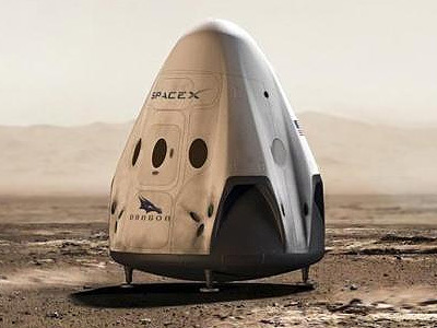 red dragon on mars spacex