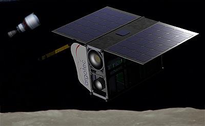 ภาพตัวอย่างของ ArgoMoon CubeSat ขององค์การอวกาศอิตาลี (ASI) ในภารกิจ Exploration Mission 1 ปี ค.ศ. 2019 ซึ่งหากเราดูเผินๆแล้ว ก็ไม่ต่างอะไรจากกล้องถ่ายภาพในอวกาศเลย